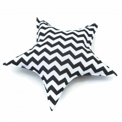 STAR PILLOW - BLACK CHEVRON