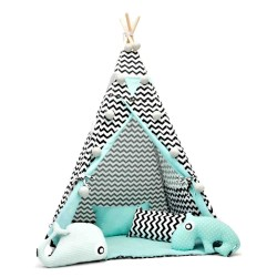 TEEPEE TENT - BLACK CHEVRON...