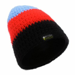 STRIPED BEANIE - BLACK RED...