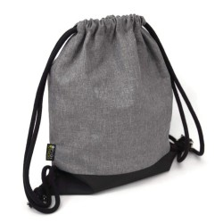 BACKPACK BAG - GREY & BLACK